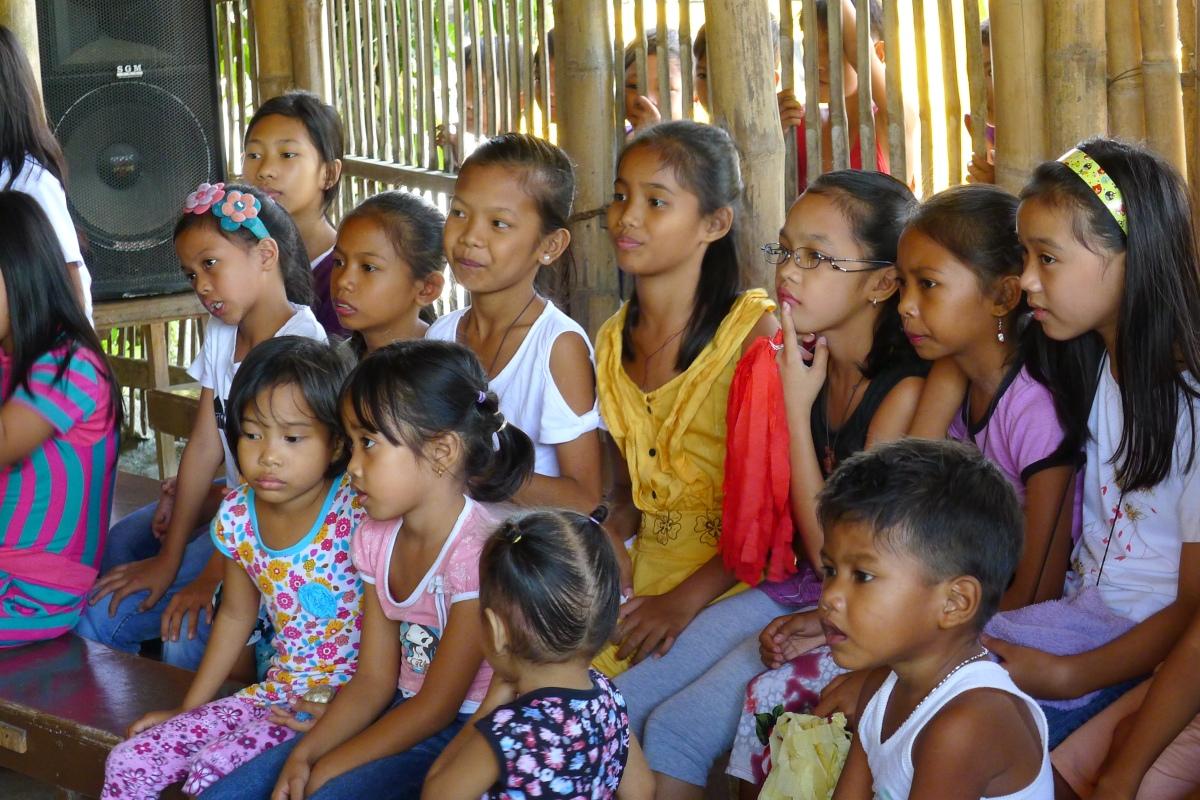Photo: Fr. Jboy Gonzales SJ. Children from Montalban, Rizal.
