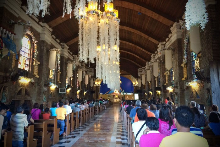 Christmas interior of the Church of Mary Magdalene, Kawit, Cavite.  Photo: Fr. JBoy Gonzales SJ