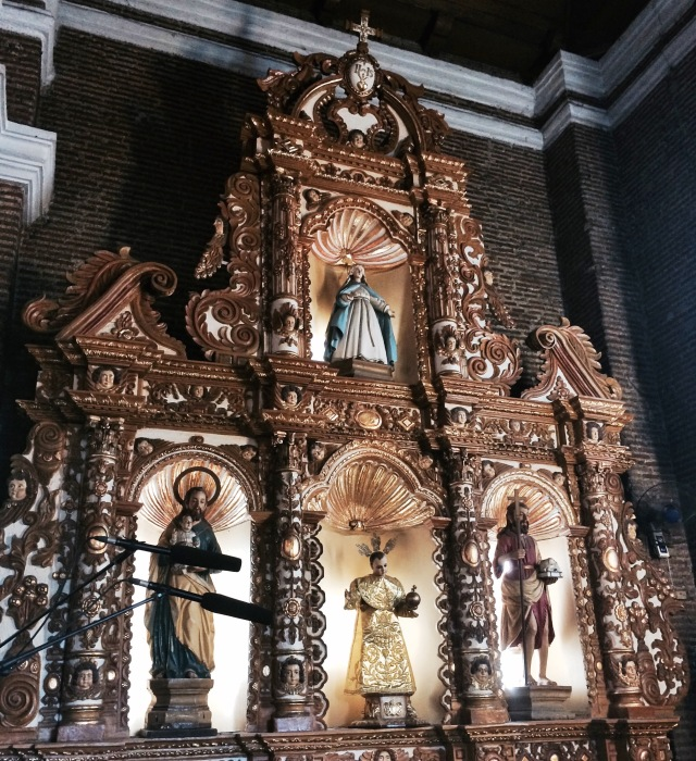 The retablo with the saints, Church of Mary Magdalene, Kawit, Cavite. Photo: Fr. JBoy Gonzales SJ