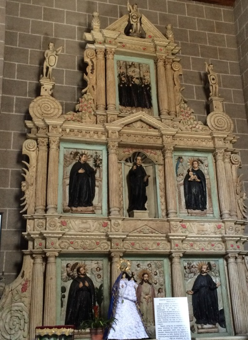 The Retablo of Jesuit Saints, Church of Our Lady of Candelaria, Silang, Cavite. Photo: Fr. Jboy Gonzales SJ