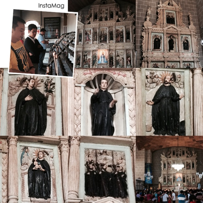 Jesuit saints enshrined in one of retablos of the Church of Our Lady of Candelaria, Silang, Cavite. Photo: Fr. Jboy Gonzales SJ