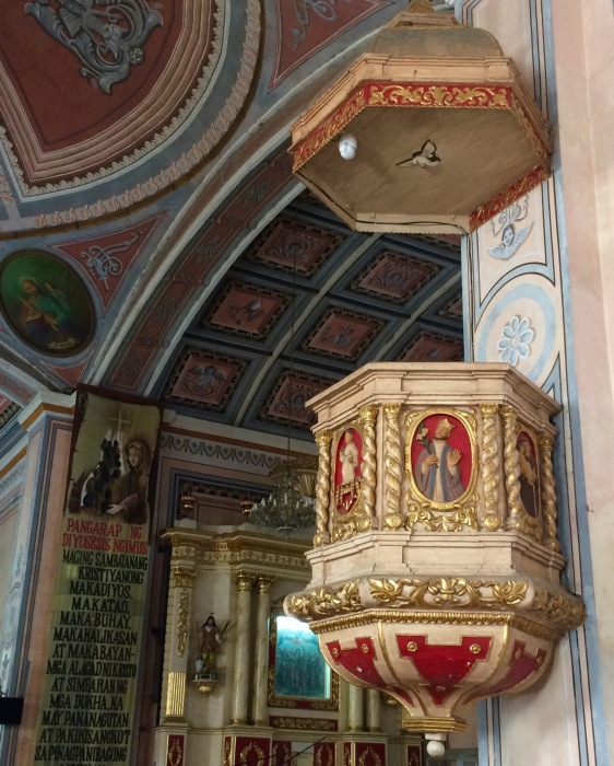 The Pulpit of the Church of San Gregorio Magno, Indang, Cavite. Photo: Fr. Jboy Gonzales SJ