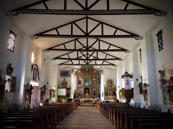 Interior of Our Lady of the Assumption, Maragondon, Cavite. Photo: Fr. Jboy Gonzales SJ