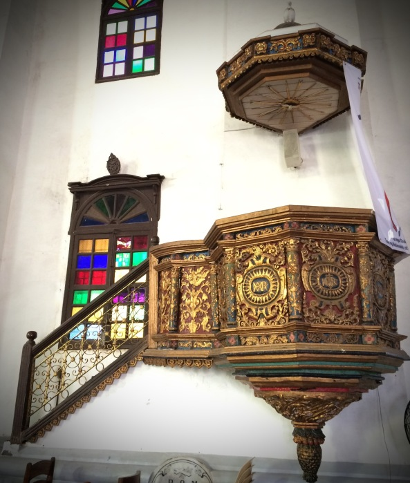 The pulpit of Our Lady of the Assumption Church, Maragondon, Cavite. Photo: Fr. Jboy Gonzales SJ