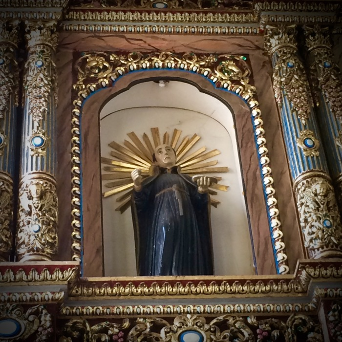 St. Ignatius of Loyola, Retablo of Our Lady of the Assumption, Maragondon, Cavite. Photo: Fr. Jboy Gonzales SJ