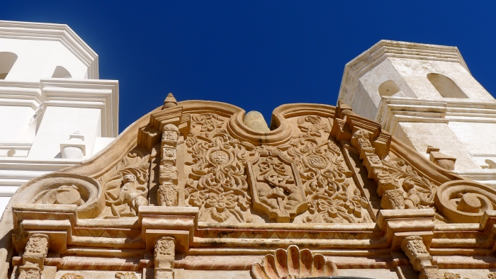 Ornate details of the frontage of the Mission San Xavier del Bac. Photo: Fr. JBoy Gonzales SJ