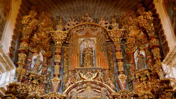 One of the Baroque retablos at the Mission San Xavier del Bac. Photo: Fr. JBoy Gonzales SJ