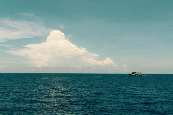 One of the boats that ply the route from and to Siquijor. You can embark at the port of Dumaguete City.
