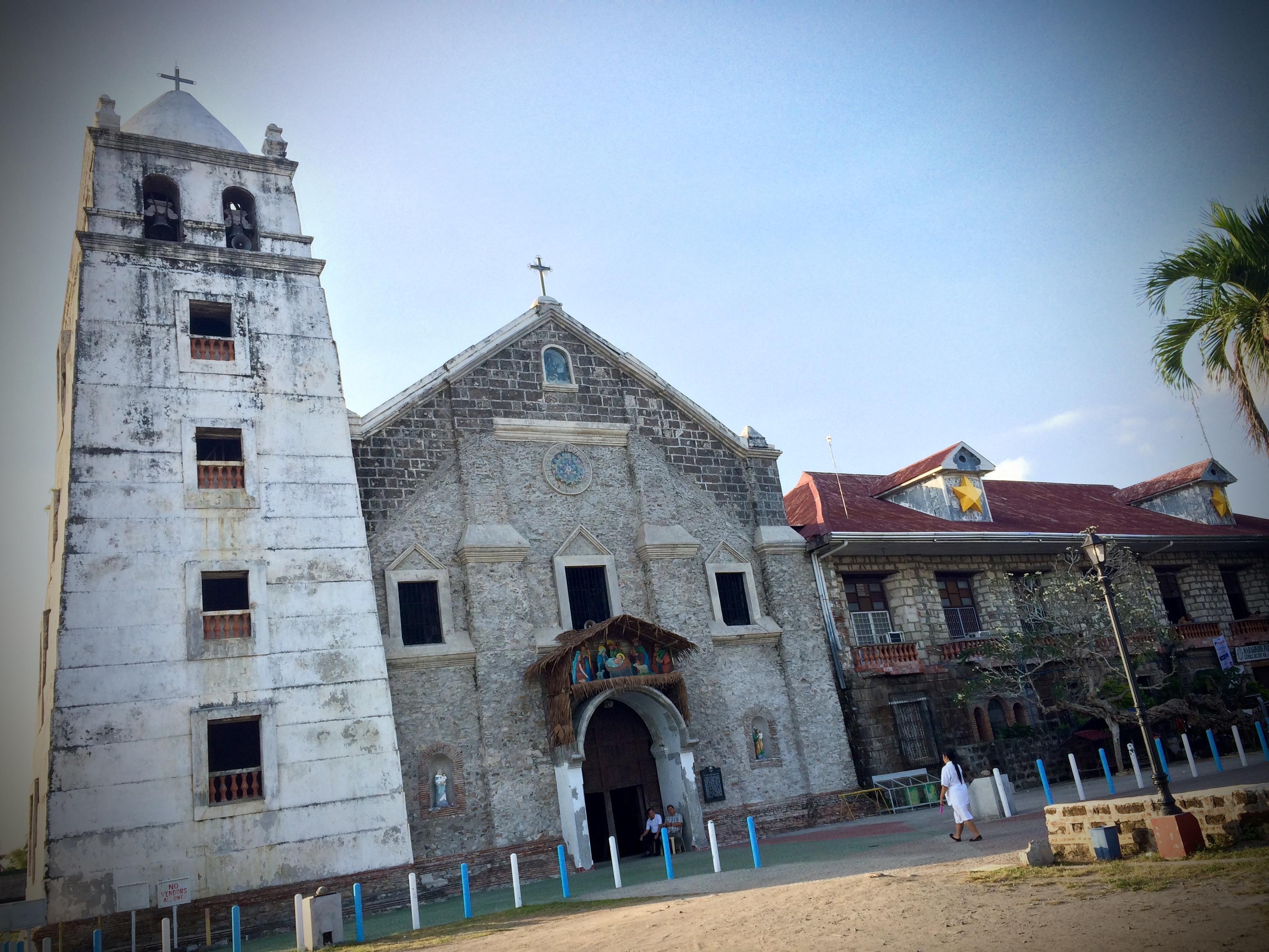 Frontage of the Nuestra Señora de la Asuncion Church, Maragondon, Cavite. Photo: Fr. Jboy Gonzales SJ