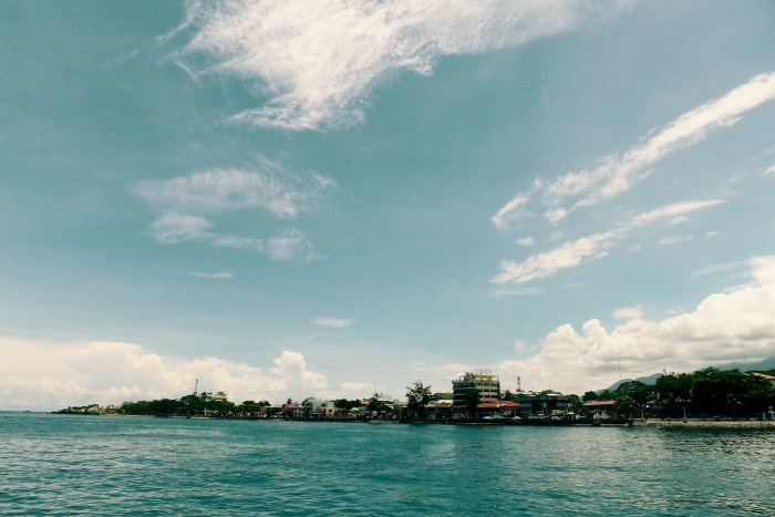 The coastline of Dumaguete City from the Bohol Sea. Photo: Fr. Jboy Gonzales SJ