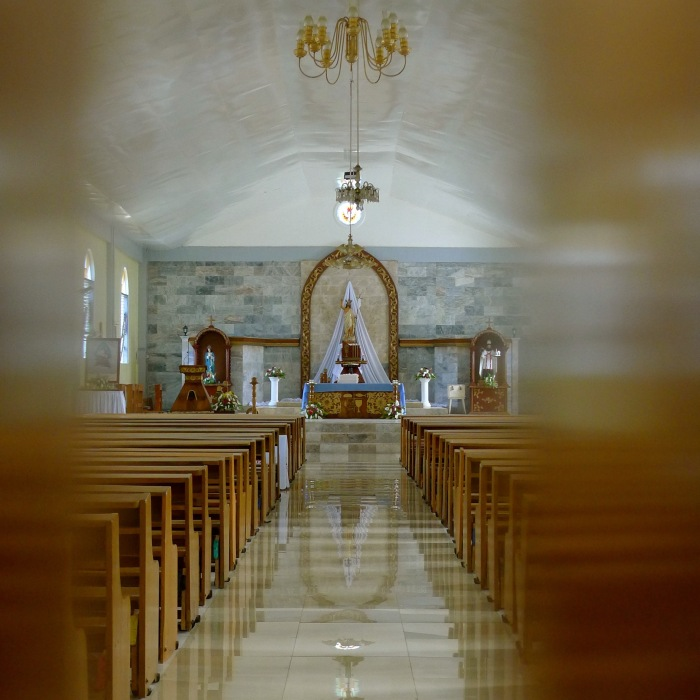 The interior of the Parish of St. Augustine of Hippo, San Juan, Siquijor. Photo: Fr. Jboy Gonzales SJ