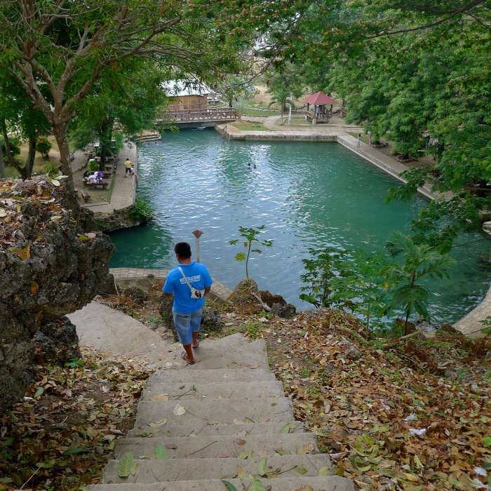 The Capilay Spring Park, viewed from the Parish grounds. San Juan, Siquijor. Photo: Fr. JBoy Gonzales SJ
