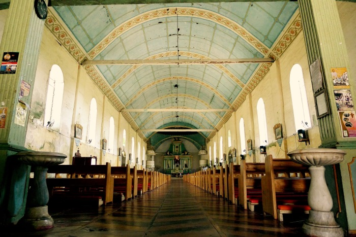 The nave of the San Isidro Labrador Parish, Lazi, Siquijor. Photo: Fr. Jboy Gonzales SJ
