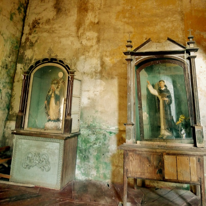The images of the Immaculate Concepcion and Angel Rafael. San Isidro Labrador Church, Lazi, Siquijor. Photo: Fr. Jboy Gonzales SJ