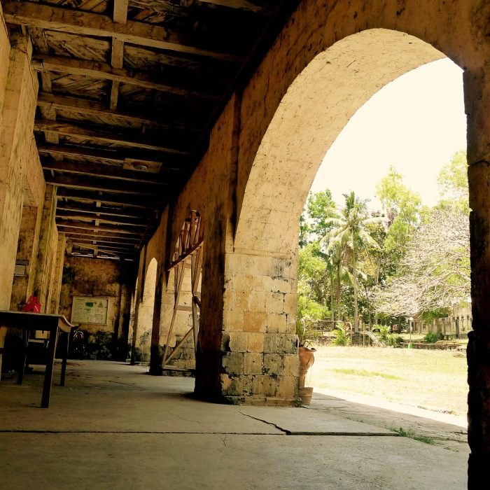 These sturdy stone arches support the wooden top floor of the Lazi Convent. Photo: Fr. Jboy Gonzales SJ 14 April 2015