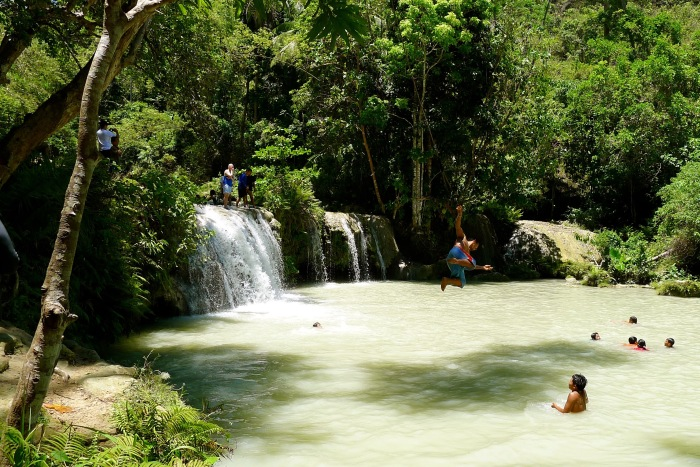 You can dive into this pool by using a rope. Photo: Fr. Jboy Gonzales SJ