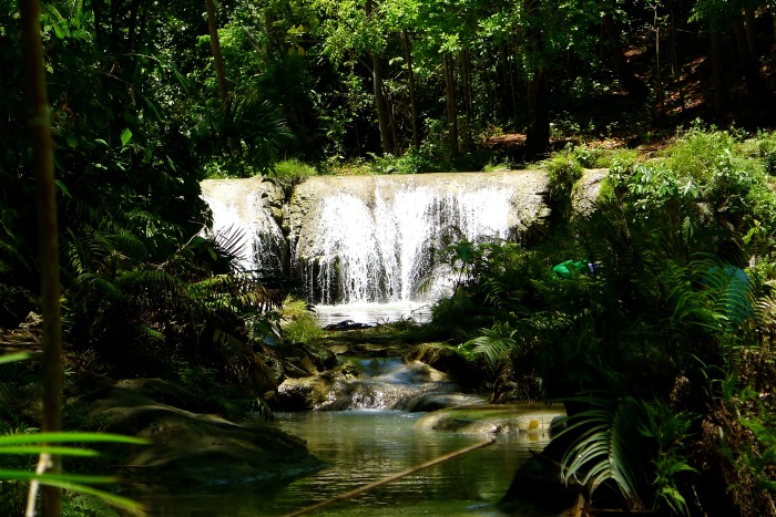 The first tier of the Cambugahay Falls in Lazi, Siquijor. Photo: Fr. Jboy Gonzales SJ