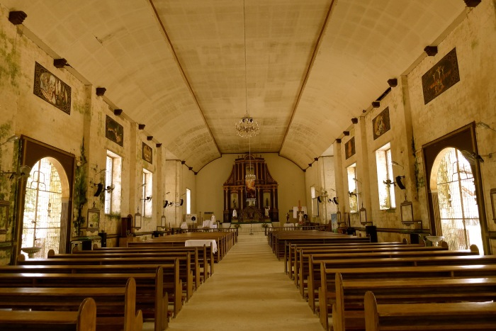 The Nave of the Parish of Our Lady of Divine Providence, Maria, Siquijor. Photo: Fr. Jboy Gonzales SJ
