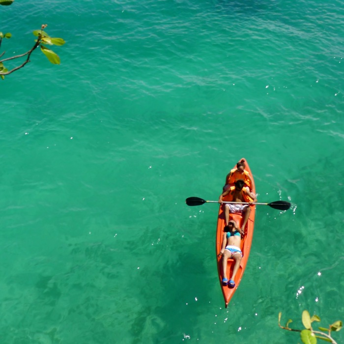 Kayaking is one of the attractions in Salagdoong Beach Resort, Siquijor. Photo: Fr. Jboy Gonzales SJ
