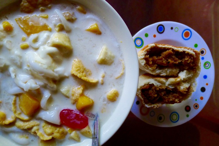 Larena's Special Halo-Halo and Pan de Bisaya (with bukayo). Photo: Fr. Jboy Gonzales SJ