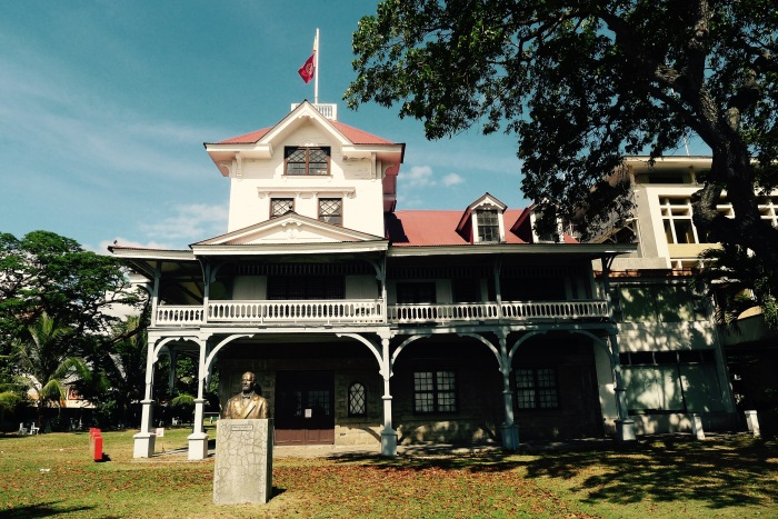 Close-up of the old building, Silliman University. Photo: Fr. Jboy Gonzales SJ