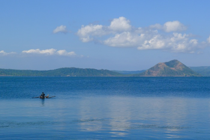 A lone fisherman on his banca. Taal Lake, Talisay, Batangas. Photo: Jboy Gonzales SJ