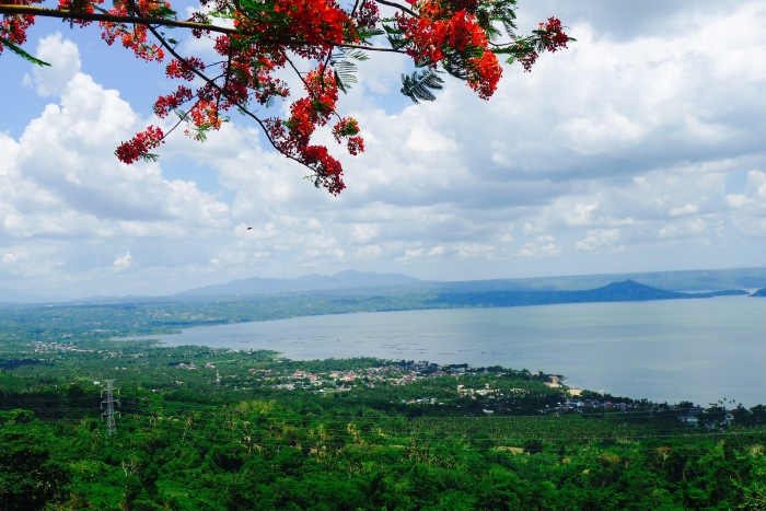 An overview of Taal Lake from Ligaya Drive. Photo: Jboy Gonzales SJ