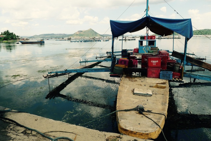 A fishing boat docked in Laurel, Batangas. Photo: JBoy Gonzales SJ