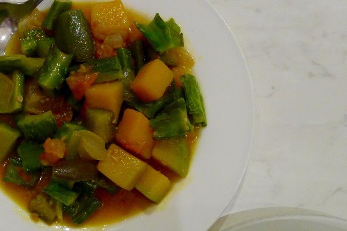 Via Mare's Pinakbet: Assorted vegetables sauteed in salty bagoong sauce. Photo: Fr. Jboy Gonzales SJ