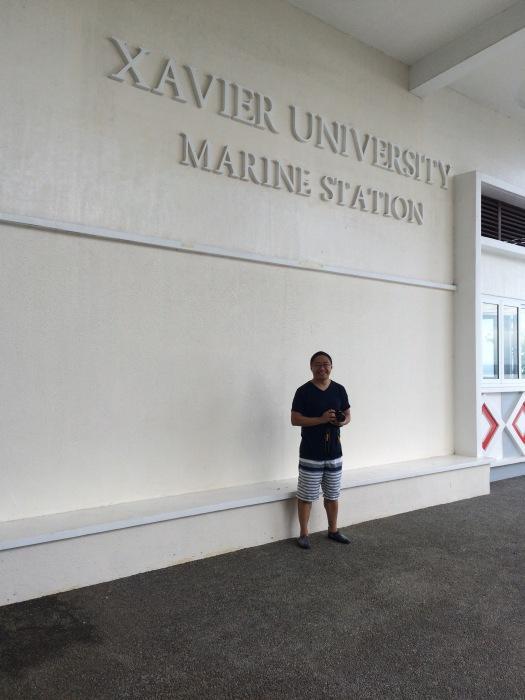 At Xavier University's Marine Station. Photo: Bok Pioquid