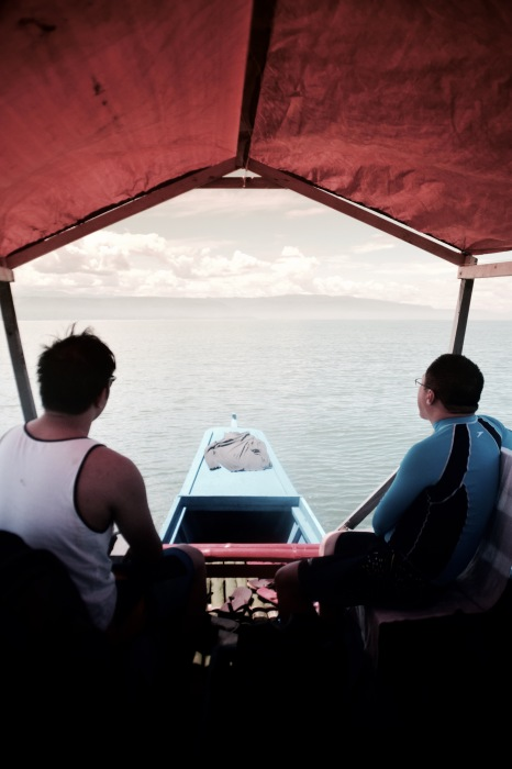 Erick Salonga and I can't wait to reach Agutayan Island. Photo: Bok Pioquid