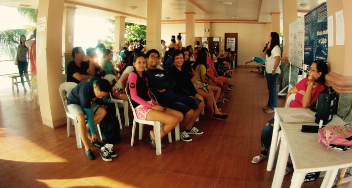 At Tan-awan, Oslob, we were given an orientation at the Briefing Center before we visit the whale sharks. 23 August 2015. Photo: Fr. Jboy Gonzales SJ