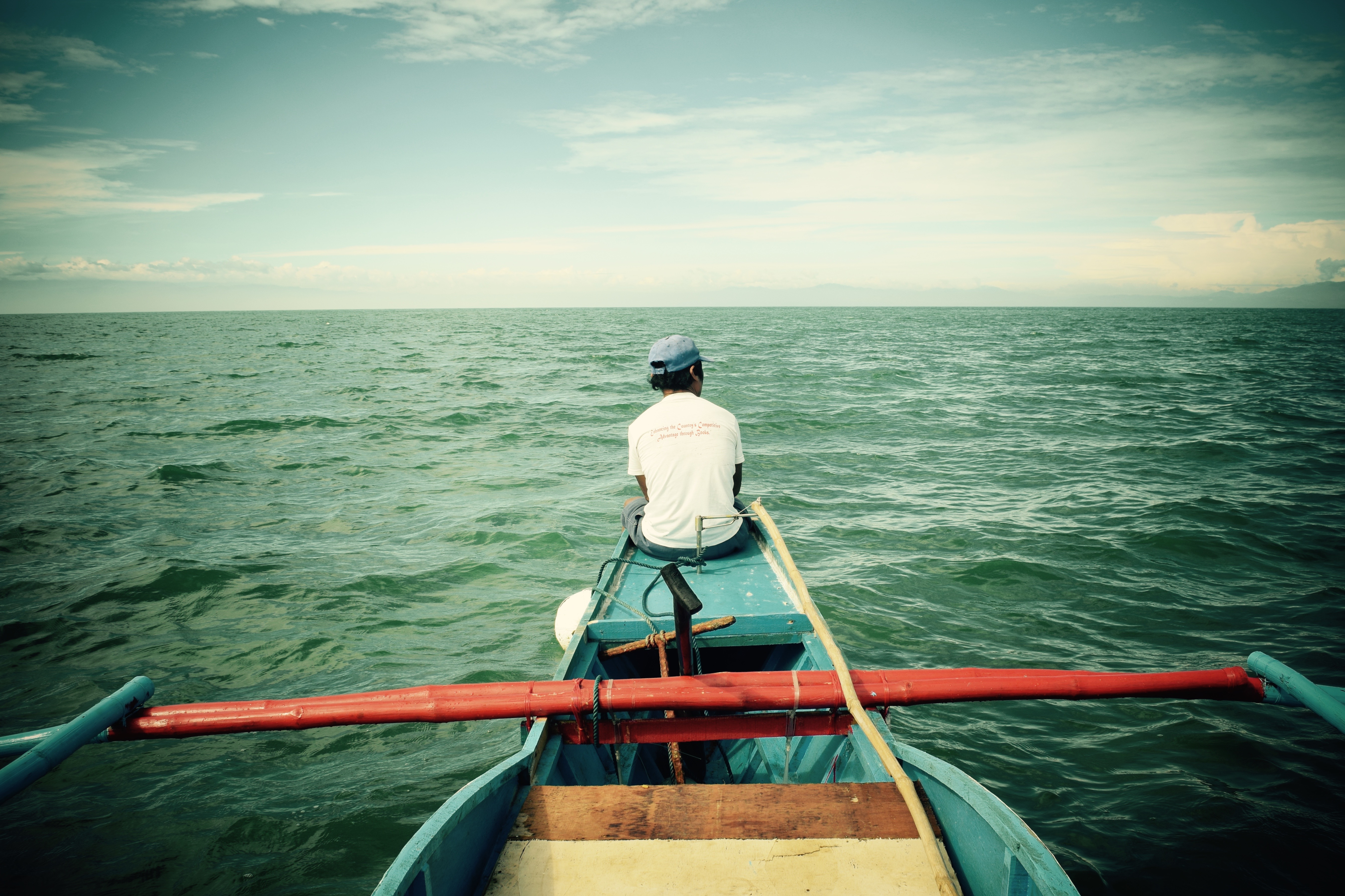 We took this banca to Agutayan Island since we were just 3 passengers. Photo: Fr. Jboy Gonzales SJ