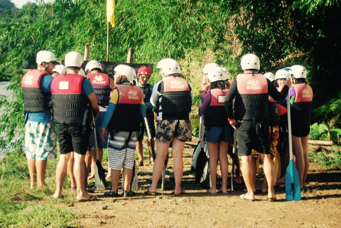 Our guides giving us preliminary instructions before getting into the rafts. Photo: Red Rafts