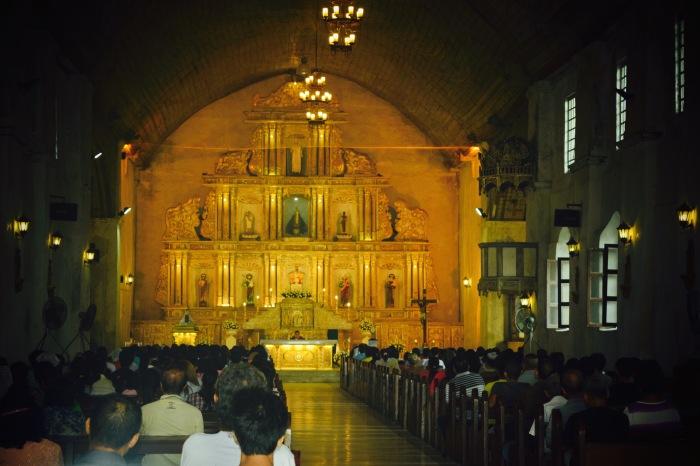 A 6AM Sunday mass, Boljoon, Cebu. Photo: Fr. Jboy Gonzales SJ