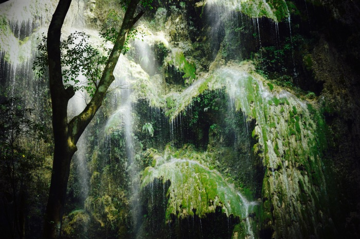 Water cascades over rocks at Tumalog Falls. Oslob, Cebu. 23 August 2015 Photo: Fr. Jboy Gonzales SJ