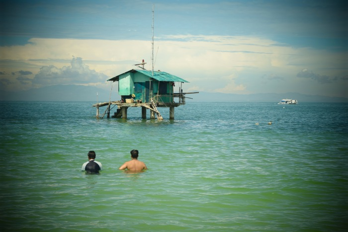 Fra-and and Bok faces the marine sanctuary of Agutayan Island. Photo: Fr. Jboy Gonzales SJ