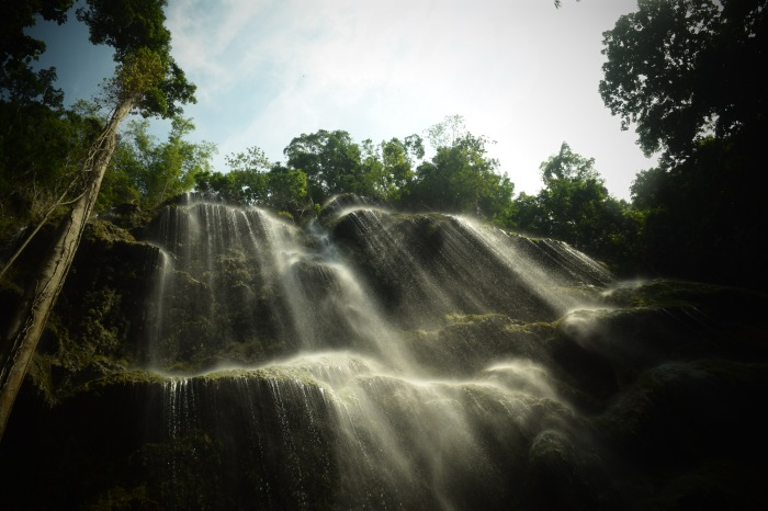 The sun strikes the waters of Tumalog Falls. Oslob, Cebu. 23 August 2015 Photo: Fr. Jboy Gonzales SJ