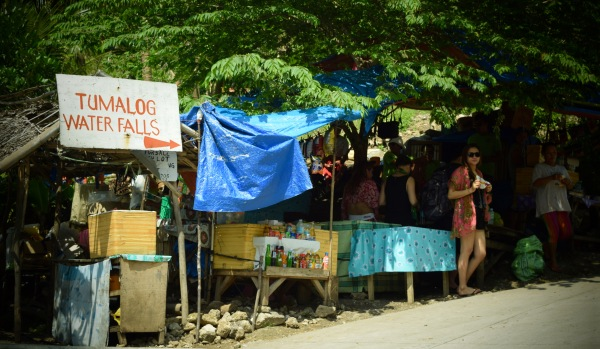 Vendors sell their goodies at the entrance to Tumalog Falls. Oslob, Cebu. 23 August 2015 Photo: Fr. Jboy Gonzales SJ