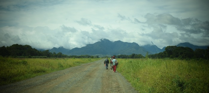 Pineapple workers on their way to work. PHoto: Fr. Jboy Gonzales SJ