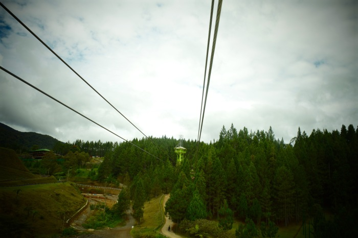 This is the first initiation to the ziplining. Two rides, but short in distance. Photo: Fr. JBoy Gonzales SJ