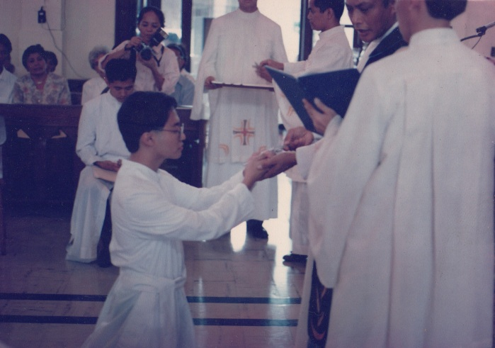 My first and perpetual vows at Sacred Heart Novitiate, 31 May 1991.