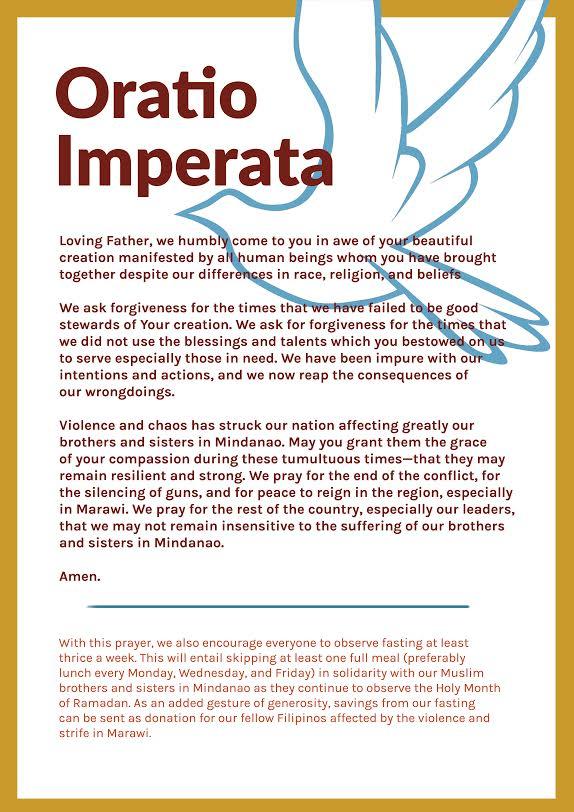 Oratio Imperata